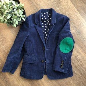 Mini Boden Blue Corduroy Sport Coat Blazer